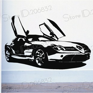 Free shipping wholesale and retail famous sports car for Mercedes benz wall posters
