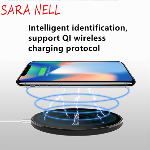SARA NELL Qi Wireless Charger for iPhone 8 8/X Fast Wireless Charging Base or Samsung S8/S8+/S7 Edge Nexus5 Lumia 820 Charger
