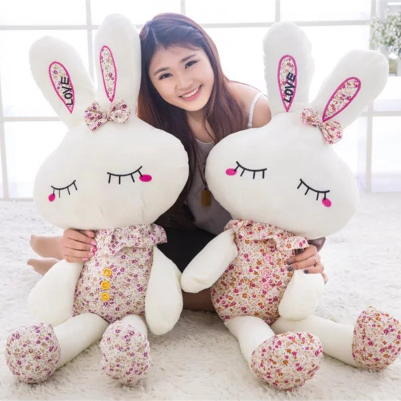 New Cute Wear Clothes Floral Rabbit Plush Toys Bunny Stuffed Dolls Kids Toys Baby Appease Birthday Gifts 25cm/35cm