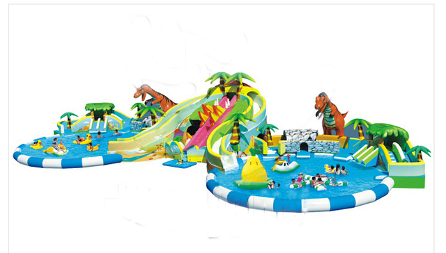 Large Octopus Inflatable Pool With Big SlideGiant Water Park For KidsInflatable