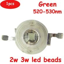 Free Shipping 1pcs 2W 3W 45mil 80LM Green 520nm-530nm LED Beads Diodes Light Part Input 3.4V~3.6V 600~700mA