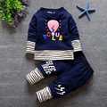 2016 autumn clothes baby sets baby boys fashion long sleeved suit shirt and pants apparel set clothing for baby kid boy