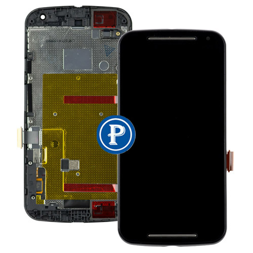 ФОТО For Motorola Moto G2 XT1063 XT1064 XT1068 Lcd Screen with Digitizer and Frame - Black OEM