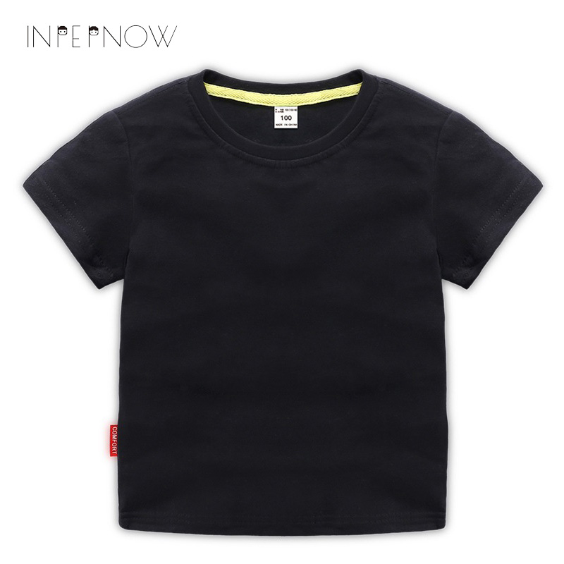 13 Color Summer Kids T shirts Children Pure Color Short Sleeve T shirt Boys Girls Cotton Sport T Shirts Baby Boy Tees DX-CZX113 цена