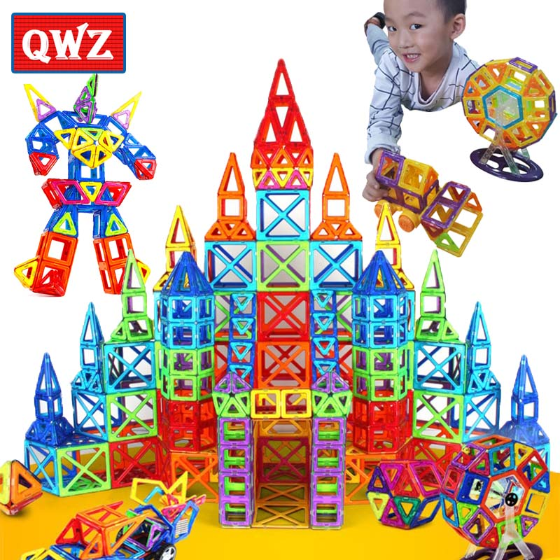 QWZ 184pcs-110pcs Mini Magnetic Designer Construction Set Model & Building Toy Magnetic Blocks Educational Toys For Kids Gift 110pcs mini magnetic blocks brinquedos models building toy magnetic designer enlighten bricks magnetic toys educational toys