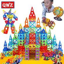 QWZ 184 adet-110 adet Mini manyetik tasarımcı inşaat seti modeli ve bina oyuncak manyetik bloklar eğitici oyuncaklar çocuklar için hediye