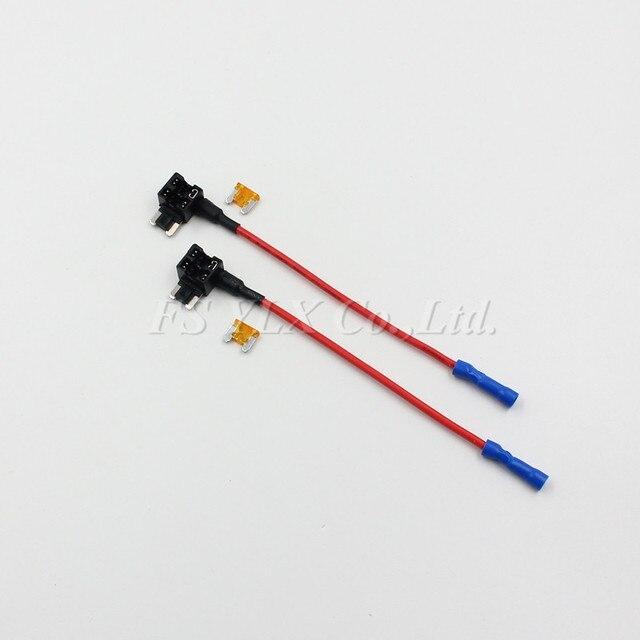 FSYLX 10pc low profile mini fuse Adapter Holder 12/24V ATM