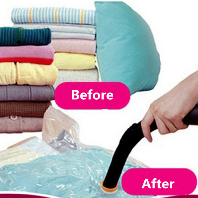 New Thicken Vacuum Clothes Storage Bags Pumping Compressed Air Pouch Seal Organizer For Quilt