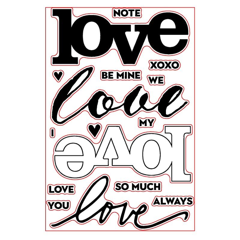 Отличается любовь шрифт слово прозрачный штамп ясно, штампы для DIY Скрапбукинг альбом Бумага карты решений Декоративные Новый 2018