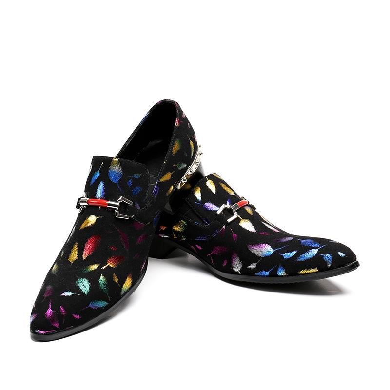 Errfc Redondo Do Dos Sapatos Luxo Nova Deslizamento Preto Homens Barco Em Moda Dedo Casuais Sapatas Penas Zapatos Padrão Chegada Designer Pé De 46 6trqw6