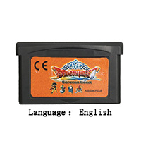 32 Bit Handheld Console Video Game Cartridge Card Dragon Quest Monsters Caravan Heart English Language EU Version image