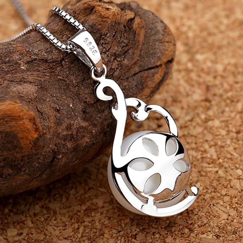 Sinya ægte perle vedhæng halskæde 925 sterling sølv charm til - Smykker - Foto 2