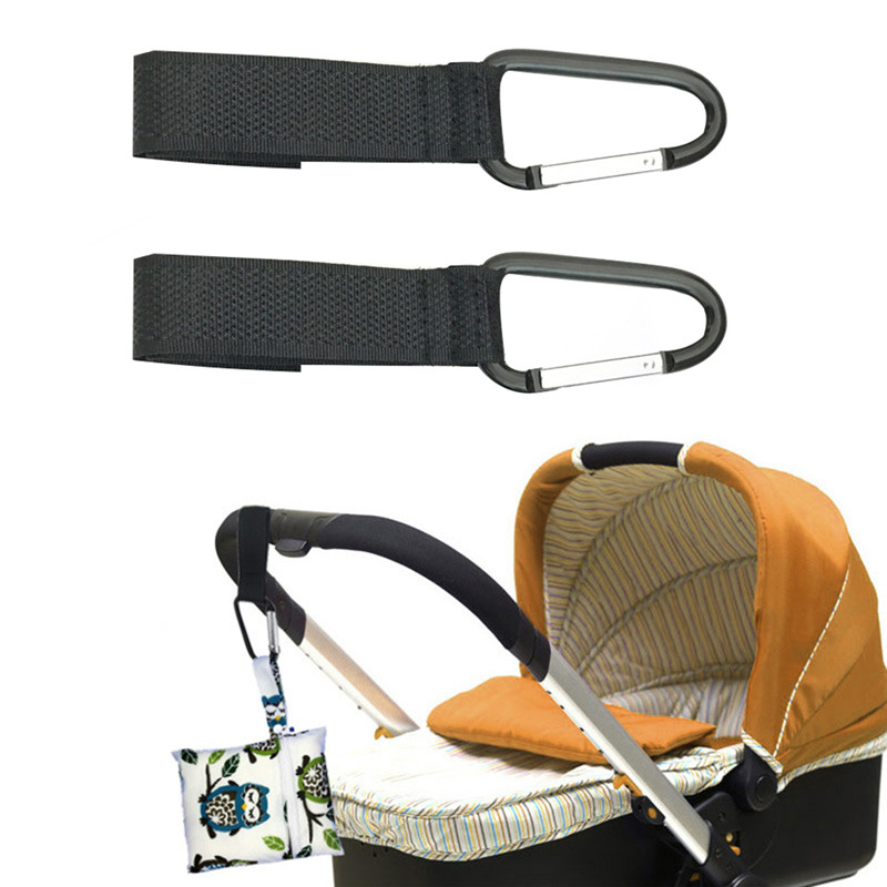 2PCs Baby stroller hook newborn baby Stroller Pram Carriage Bag Hanger Stroller Accessories Lanyard Stroller Adjustable Hooks 2pcs baby hanger baby bag stroller hooks pram rotate 360 degree cart hook accessories
