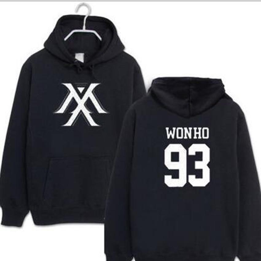 Kpop Monsta X Hoodies Women Men Harajuku Sweatshirt K-pop Wonho YOOKIHYUN  I.M jooheon Long Sleeve Fleece Hooded Tracksuit 4XL sweatshirt