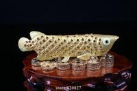 Bejewelled Pewter Arowana Fish Enameled Trinket Novelty Decoration Fish Handmade Jeweled Metal & Enamel Trinket Gift Display