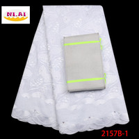 2018 High Quality Stones Swiss Voile Lace In Switzerland 100% Cotton Swiss Voile Laces Nigeria Lace Fabric For Wedding XY2157B 1