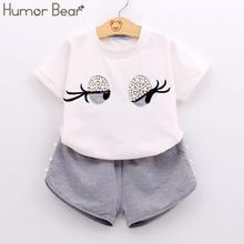 Humor Bear Baby Girl Clothes Girls Clothing Set Pearl Girls Set Lovely Toddler G