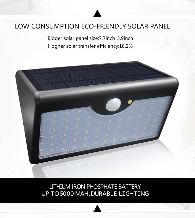 60 Led Solar Security Lights 5 Modes