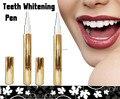 Transporte o mais rápido!!! (100 pçs/lote) 44% cp dentes branqueamento caneta de alumínio de prata da cor do ouro, dente branqueamento caneta
