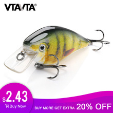 VTAVTA 6cm 12g Crank Wobblers for Fish Floating Artificial Hard Bait Pike Crankbait Fishing Lures Tackle Topwater Lure Minnow