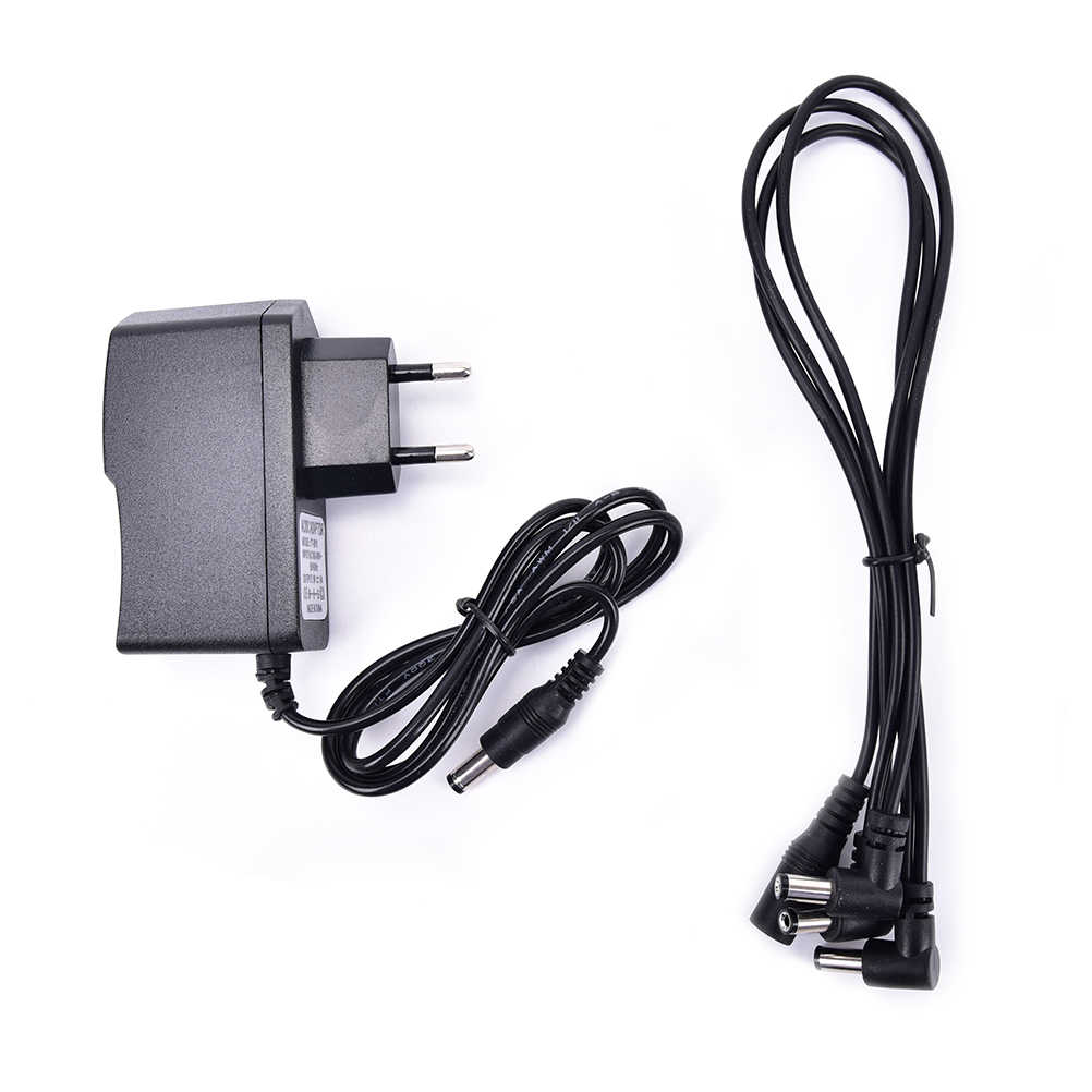 9V DC 1A Guitar Effects Power Supply/ Source Adapter, Power Cord/Leads 3 Daisy Way Chain Cable Fot Fonte Pedal