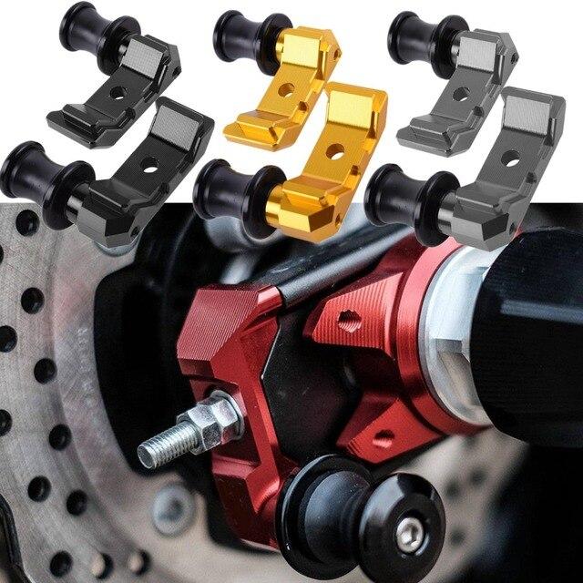 FZ07 MT07 Motorcycle Rear Wheel Fork Axle Slider Swingarm Stand Pick Up For 2015-2016 Yamaha FZ MT 07 FZ-07 MT-07
