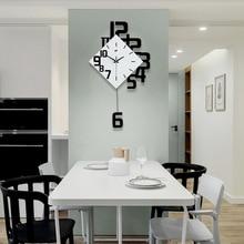 Настенные часы в скандинавском стиле, настенные часы в гостиной, модные креативные часы в спальню, тихий кварцевый, современный дизайн, Saat