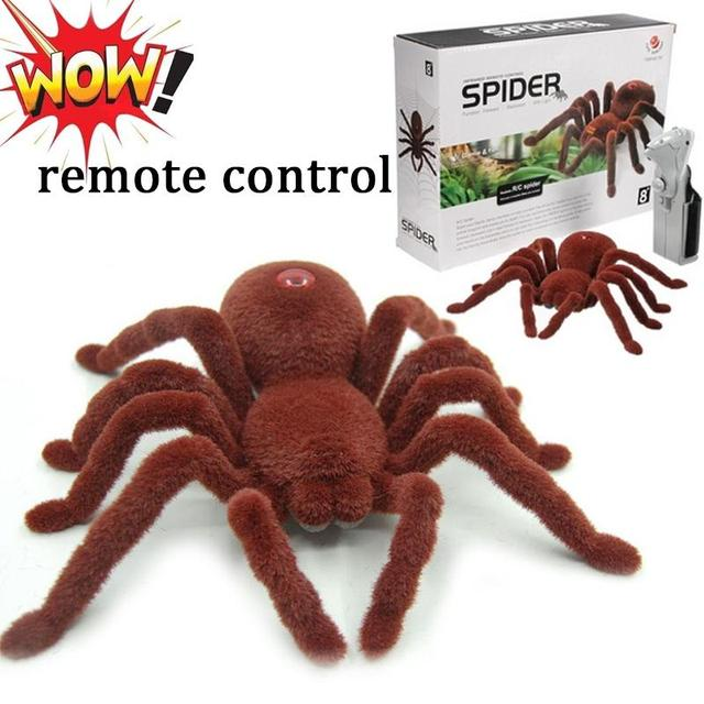 Remote Control Realistic RC Spider Halloween Model for Halloween Holiday