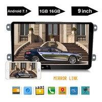 9 Android 7,1 автомобильный радиоприемник стерео для VW Passat; Skoda Golf Jetta универсальный автомобильный радиоприемник с Bluetooth Автомобильный мультимед