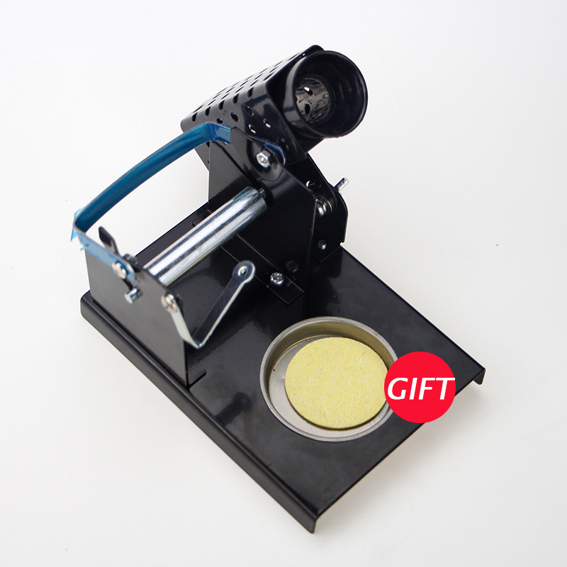 High Quality Soldering Iron Support Stand Station Metal Base+ 1 Sponges Soldering Iron Cleaner