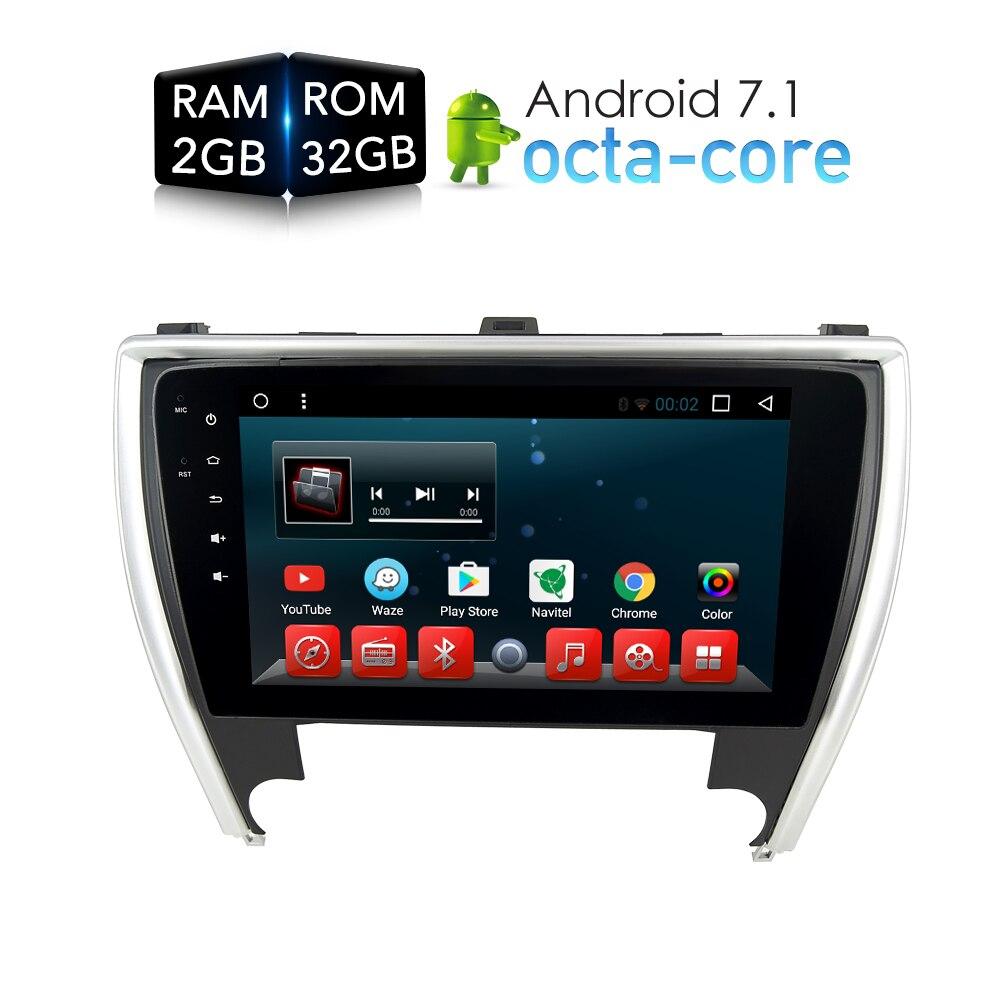 Android7.1.1 dvd-плеер GPS ГЛОНАСС для Toyota Camry 2015 2016 2017 головного устройства Аудиомагнитолы автомобильные мультимедиа стерео-плеер