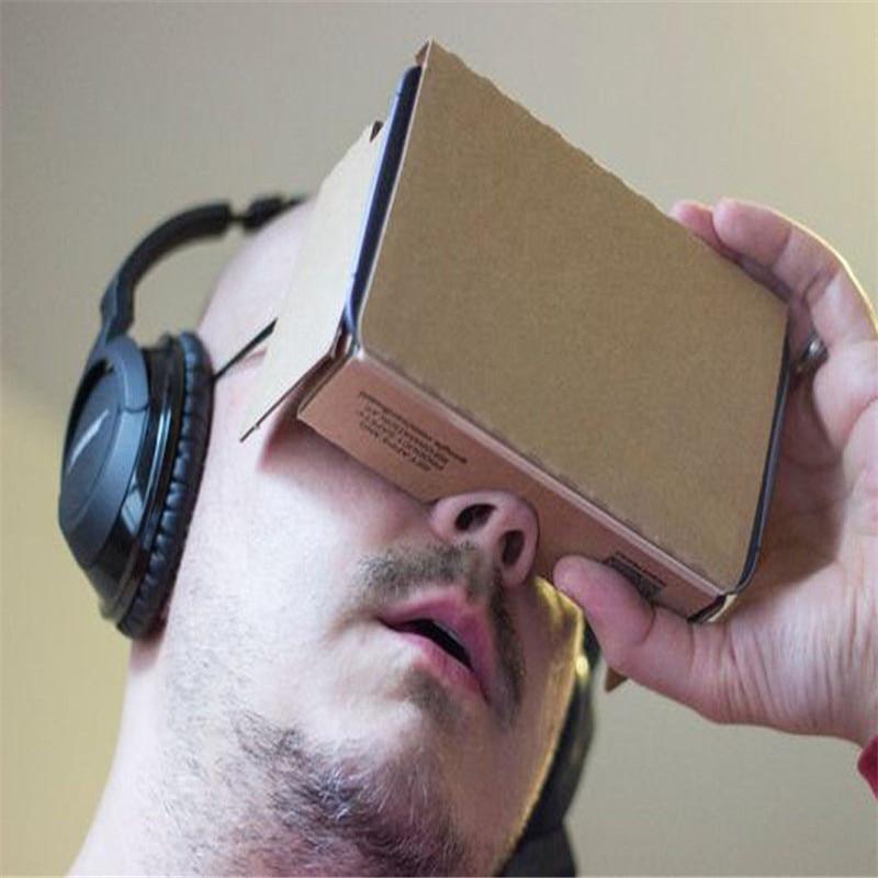 5cbf69d813d3 2018 Hot Sale 6 inch DIY Google Cardboard 3D VR Virtual Reality Glasses  Hardboard VR Glasses 3D Glass Cardboard for smartphone-in 3D Glasses   Virtual ...