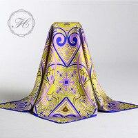 Luxury Large 90x90cm Square 100 Silk Twill Scarf Head Neck Wrap Hijab