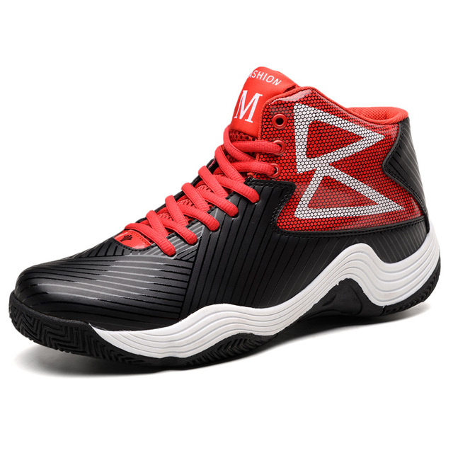 LUONTNOR High Top Men Basketball Shoes 2018 New Style Sports Sneakers Males Light Ball Boots Plus Size 45 European Basket Homme