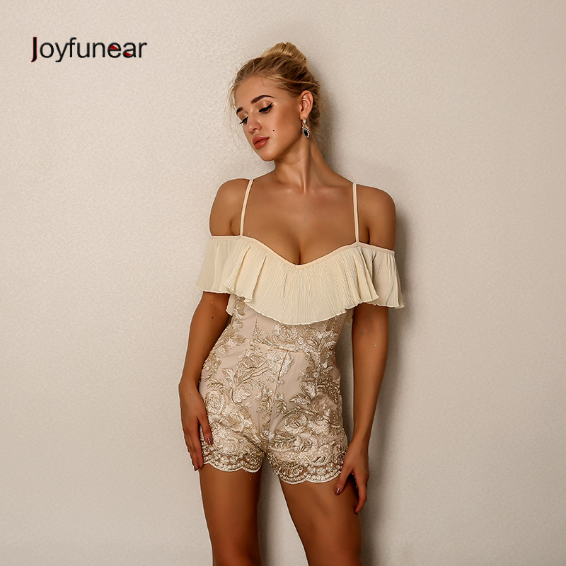 Joyfunear Sexy Bodysuit Women Jumpsuit Backless Rompers Womens Short  Jumpsuit Fashion Lace Playsuit Overalls Combinaison Femme-in Rompers from  Women s ... 7739baa62629