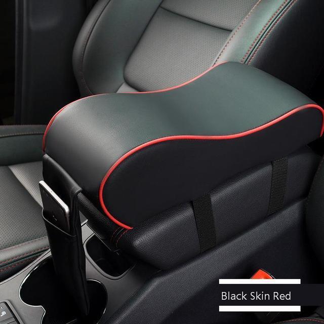 Car Armrest Box Mat Memory Cotton Leather Soft Central Armrest Console Box Pad Cover Cushion Armrest Seat Protective Pad Mat