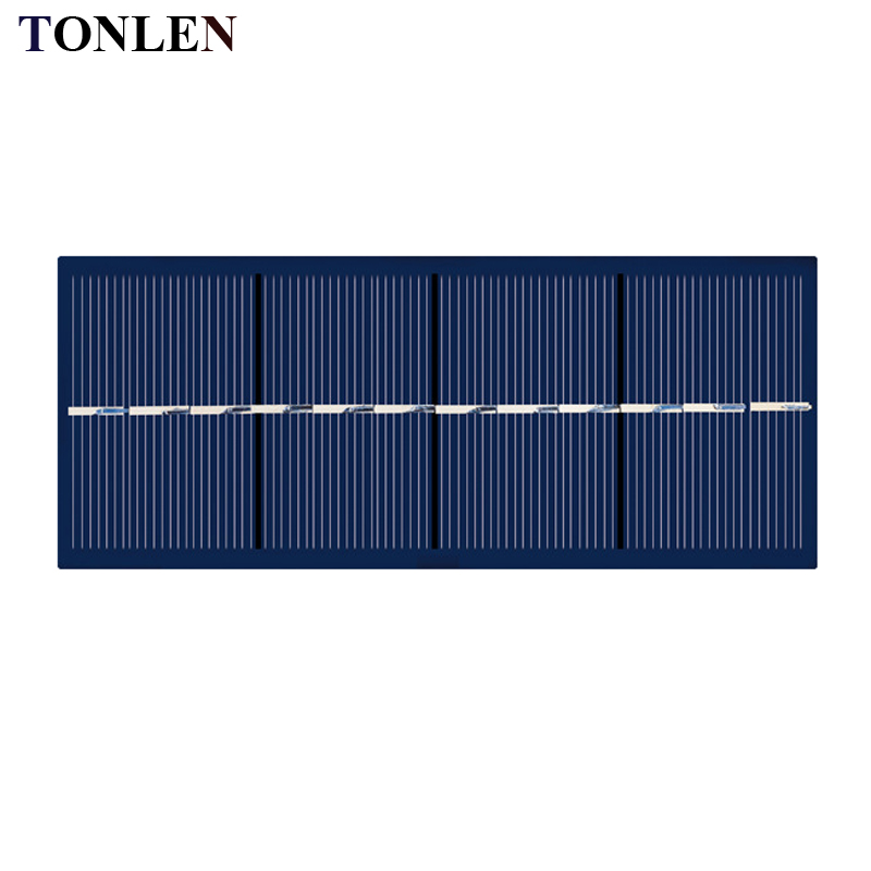 TONLEN Solar Panel China 6V 250mA Photovoltaic Panel DIY Solar Battery Charger Solares Charger for Mobile Cells Sunpower