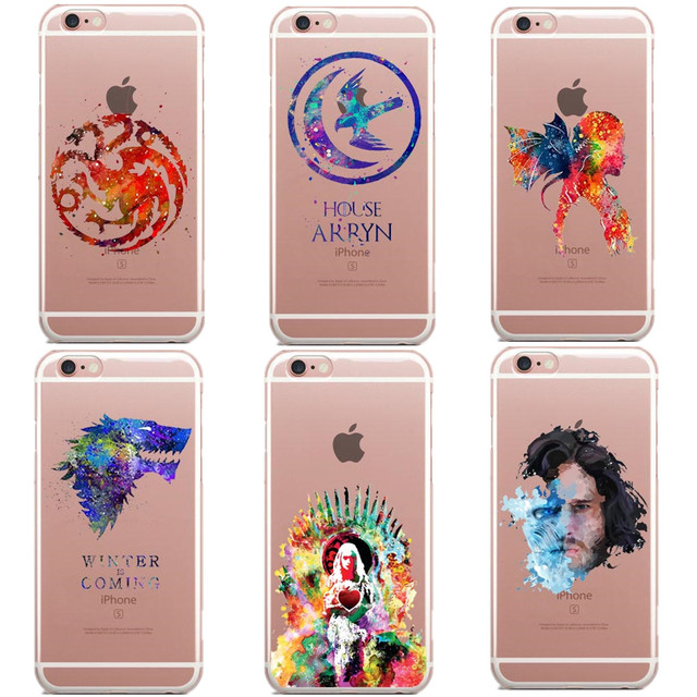 Cool Watercolor Art Game of Thrones Phone Cases