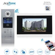 7 »сенсорный экран wifi видео дверной телефон IP дверной звонок Домофон для строительства система контроля доступа Поддержка Пароль/IC карта/iOS Телефон