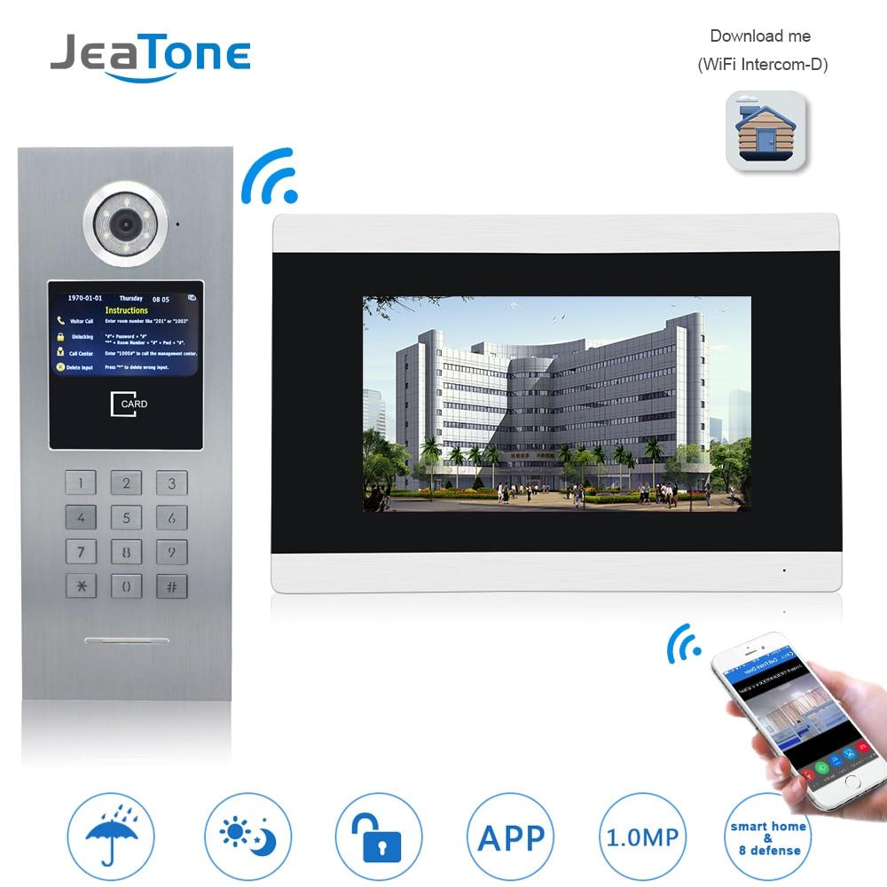 7 wifi tela sensivel ao toque wifi video porta telefone ip campainha intercom para edificio sistema