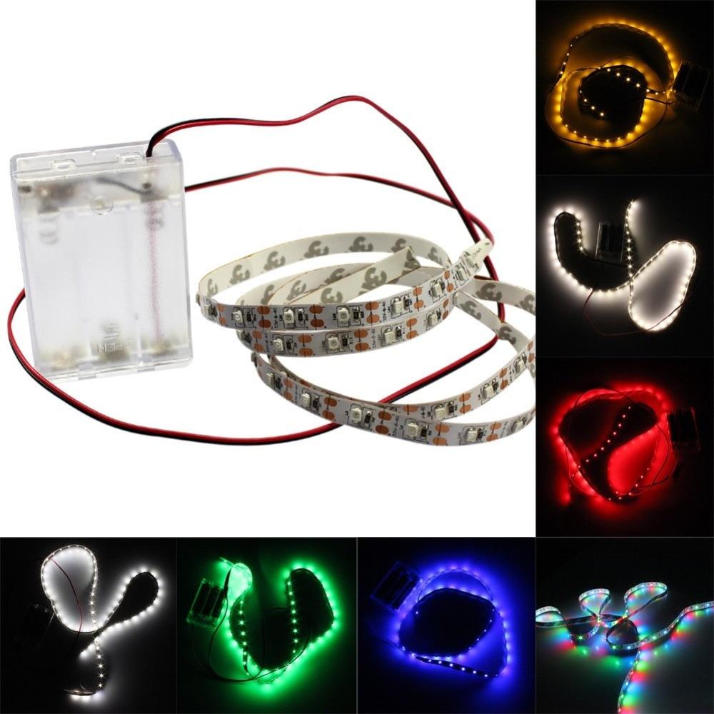 1 stücke AA Batteriebetriebene LED Streifen 3528 SMD 1 Mt 2 Mt 3 Mt - LED Beleuchtung