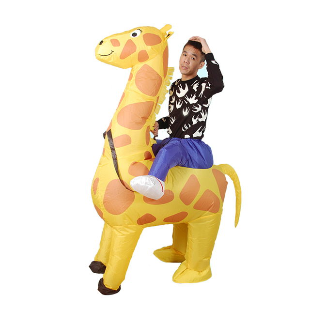 adult ride giraffe inflatable costume women halloween cosplay party dress up clothing carnival giraffe inflatable costumes