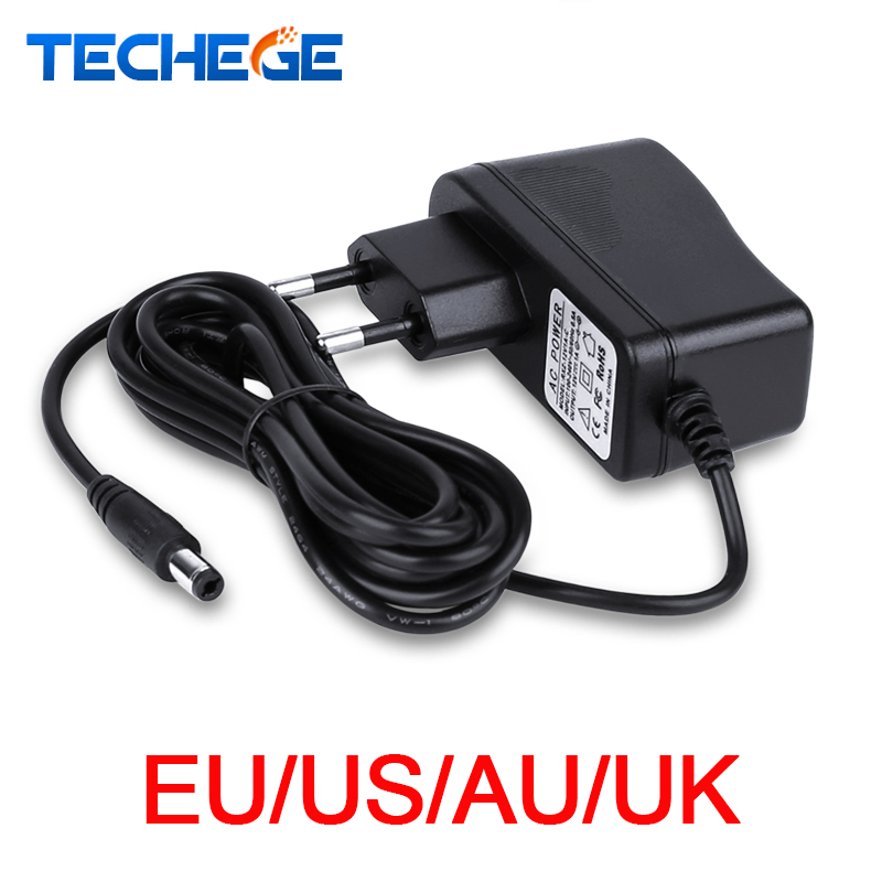 3meters Power Adapter AC100V-240V DC12V 1A Output Power Adaptor EU/AU/UK/US Plug Wall Charger DC 5.5mm X 2.1mm For CCTV Camera