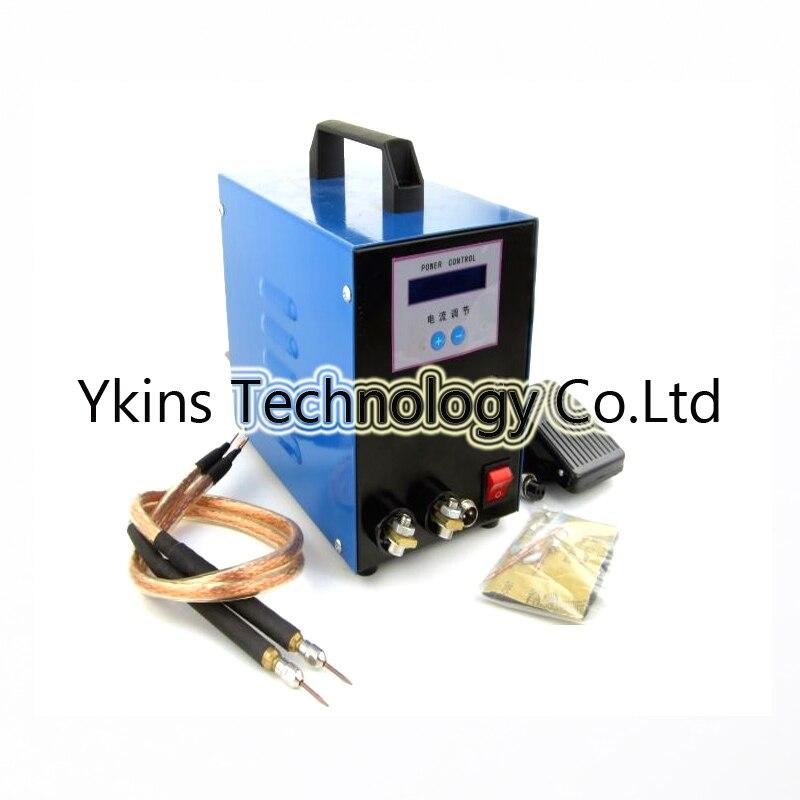 110V 220V LCD display 18650 battery spot welder machine Pedal control Pen type Handheld welding machine 220V