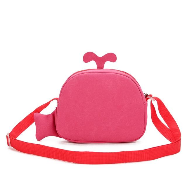 Kid's Funny Whale Shaped Messenger Bag 3