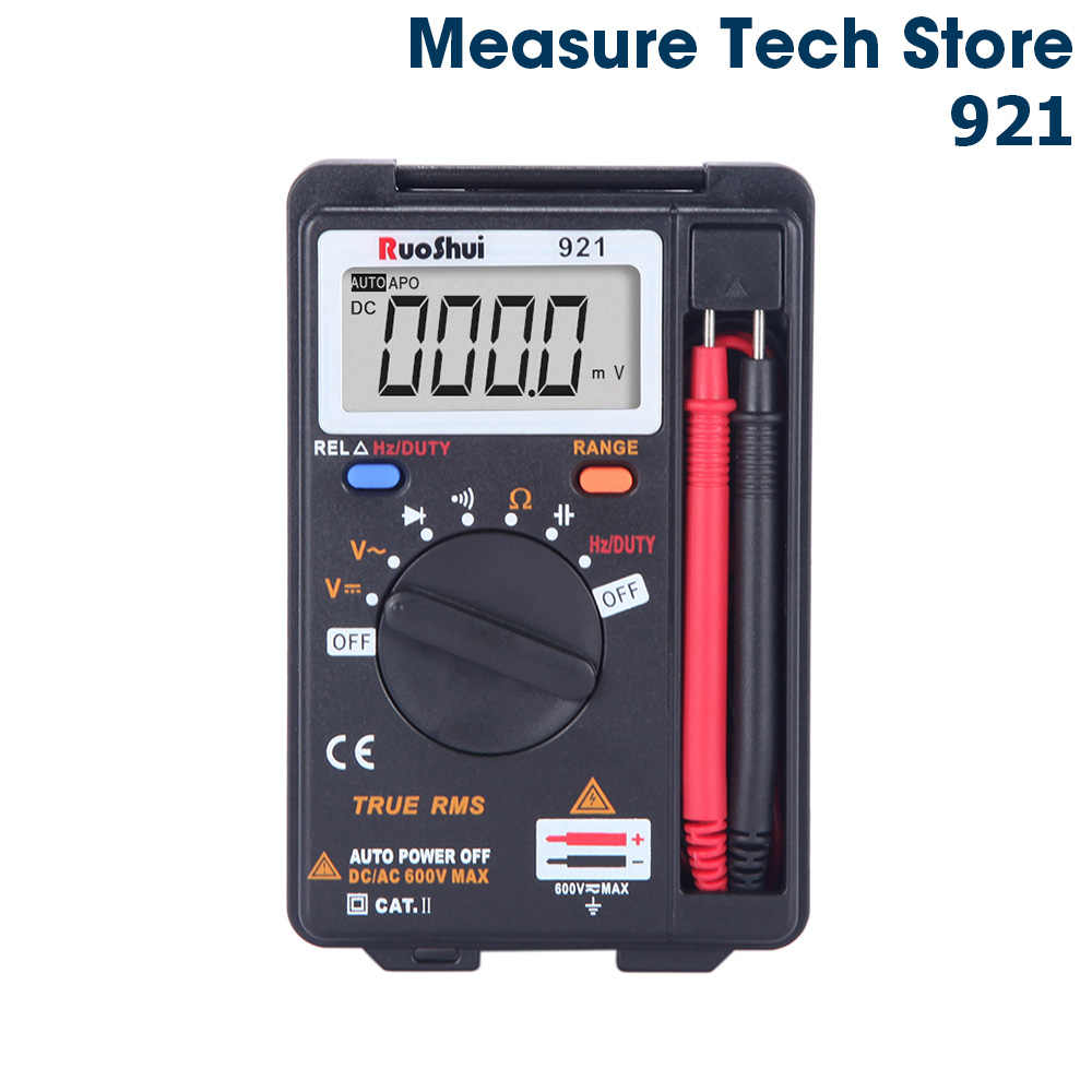 921 Victor RuoShui Digital Multimeter Manual Voltage Resistance Capacitance multimetro Foldable Multimetro tranistor tester