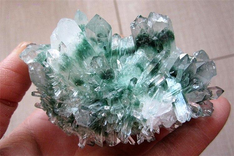 200-300g verde fantasma cluster di Pietra di cristallo di Quarzo trasparente di Cristallo cluster naturale specter cluster di quarzo del campione di guarigione