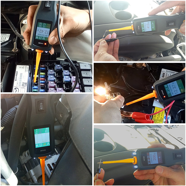 VXDAS Car Battery Tester/Analyzer OBD2 12V-30V Vehicle/Auto Diagnostic Tool Automotive Battery/Circuit/Electrical System Probe