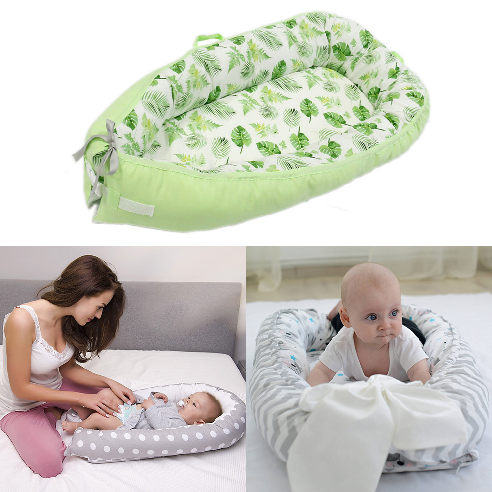 Portable Baby Nest Bed Crib Newborn Biomimicry Multifunctional Nursery Travel Bed With Bumper Mattress