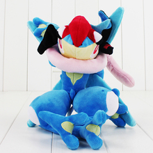 33.5cm cute Greninja plush cartoon doll toys soft stuffed doll toy Hot Japanese Anime toy free shipping good gift for children